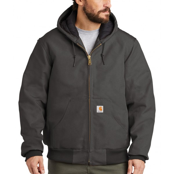 Carhartt Embroidered Quilted Flannel Lined Duck Active Jacket
